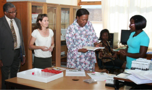 Meeting minister Naledi Pandor (Credit: Iimbovane archives)