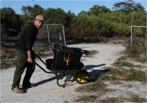 wheelbarrow to work