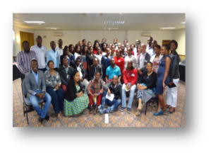 Attendees of the 2015 Annual Postgraduate Workshop at Empekweni Beach Resort – One of my projects as research assistant.