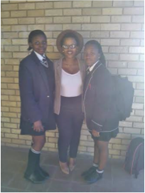 With some learners at the NRF Role-Modelling Campaign