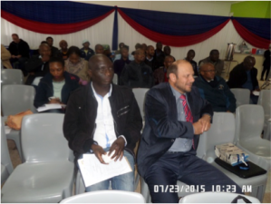 Prof Voster Muchenje (supervisor and mentor) and Mr Nico Fouché (CEO of Milk S.A.) and some participants of the SASAS-EC Mini-symposium at the University of Fort Hare.