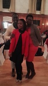 """Dr Nkukwana (Supervisor), Sipokazi Nyeleka and I (the """"visiting professor"""")"""