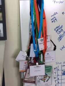 My little collection of name tags from conferences!