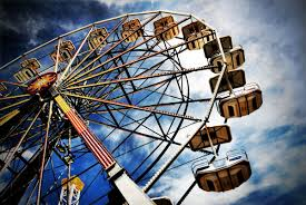 Depiction of a Ferris wheel