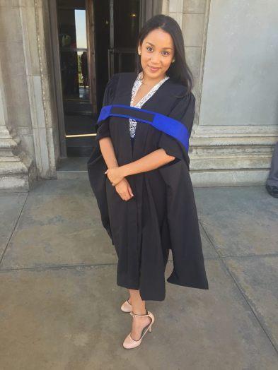 First graduation (half a smile....)